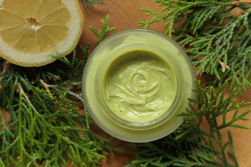 jak zrobić zielone masło do ciała ze skrobią
