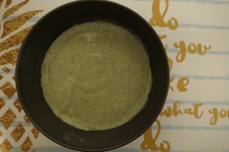 domowy budyń z zieloną herbatą