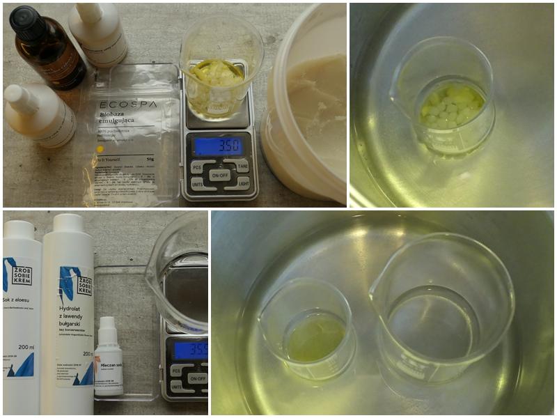 jak zrobić lekki słonecznikowo aloesowy krem na emulgatorze Biobaza