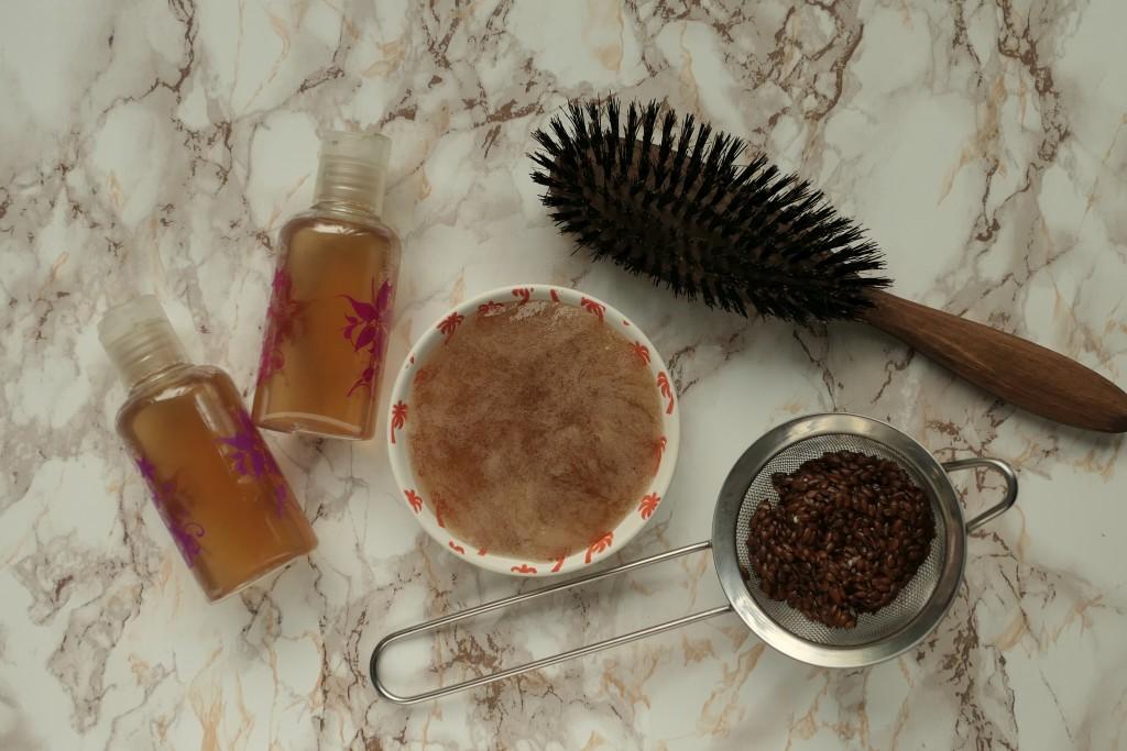naturalna odżywka do włosów z siemienia lnianego