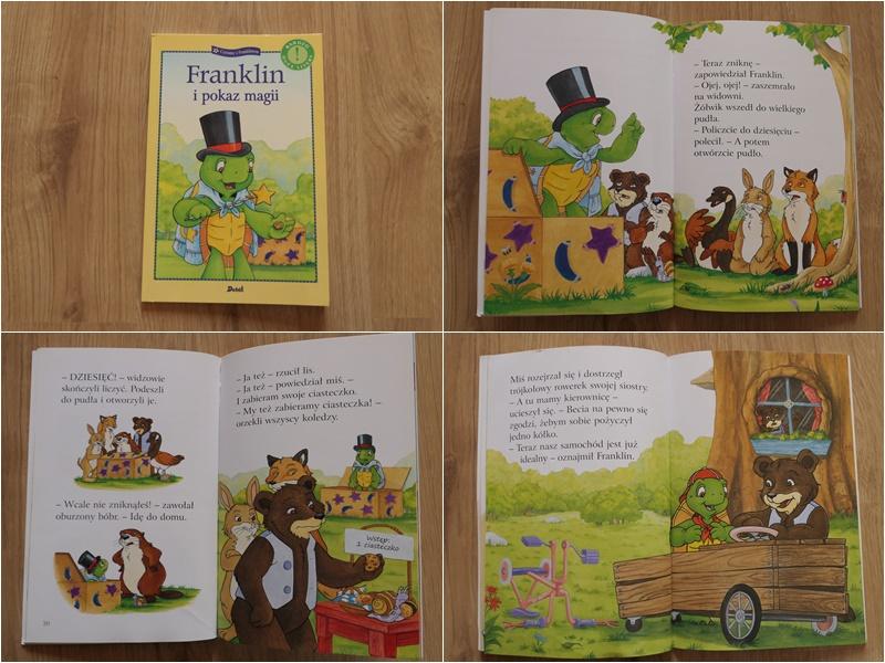 seria Franklin z dużymi literami do nauki czytania
