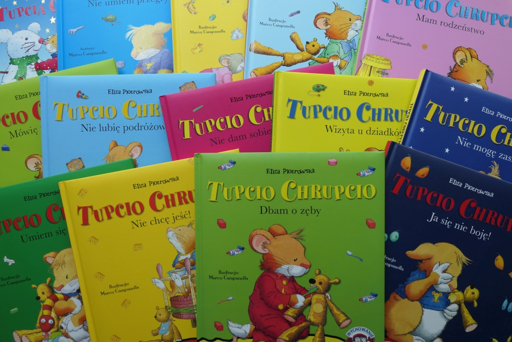 tupcio chrupcio seria książek z sympatyczną myszką