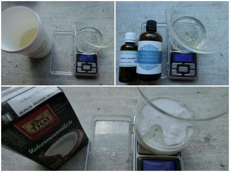 kokosowy szampon proteinowy z gotowej bazy
