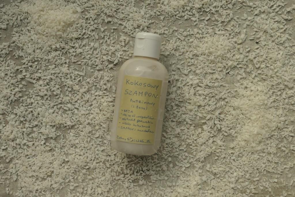 jak zrobić kokosowy szampon proteinowy z jedwabiem
