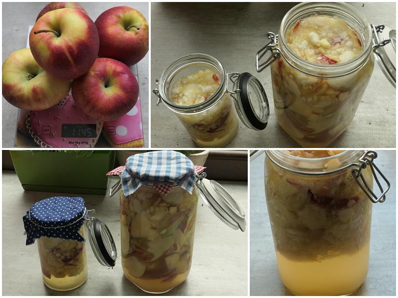 domowy ocet jabłkowy z całych jabłek lub obierek