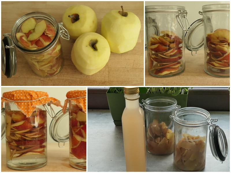 domowy ocet jabłkowy z obierek