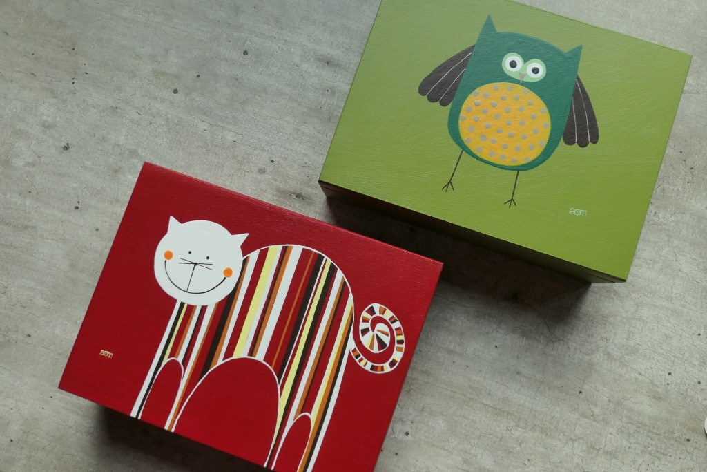 kolorowe pudełka od anamarko