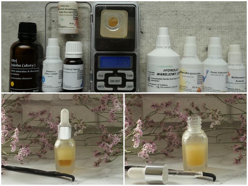 jak zrobić serum do twarzy pachnące wanilią