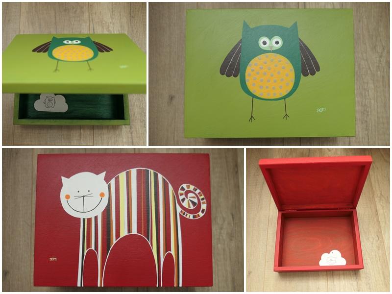 piękne kolorowe pudełka ręcznie malowane od anamarko