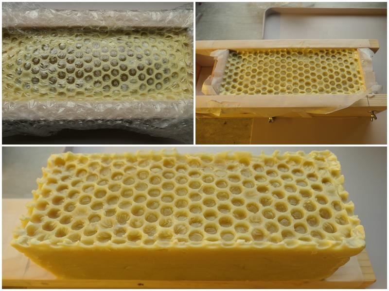 żelowanie mydła z woskiem pszczelim 3%