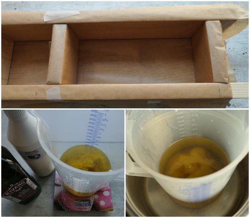 wykładnaie drewnianej formy do mydła marsylskiego