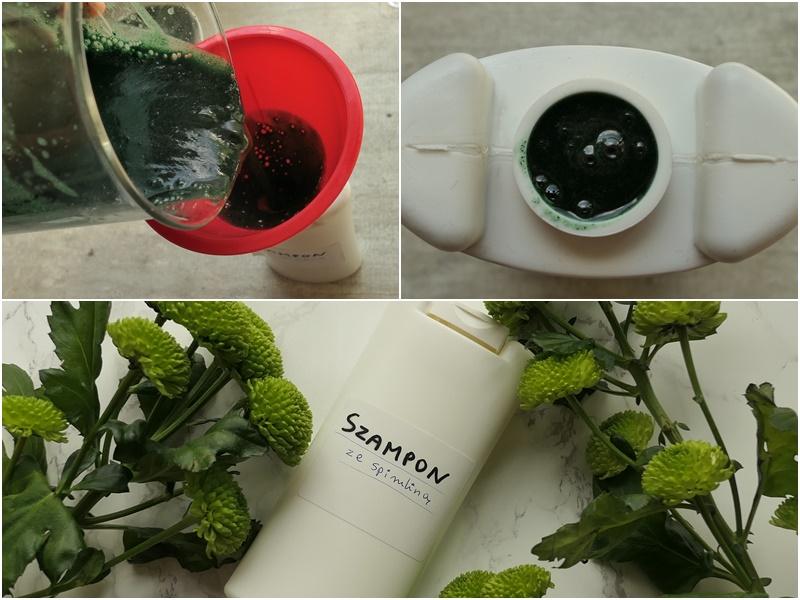zielony szampon ze spiruliną na niejonowym detergencie przepis