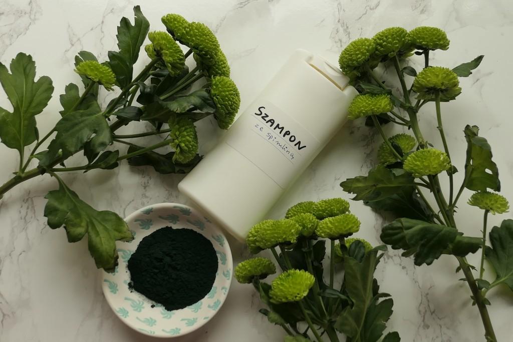 zielony spirulinowy szampon z glukozydem