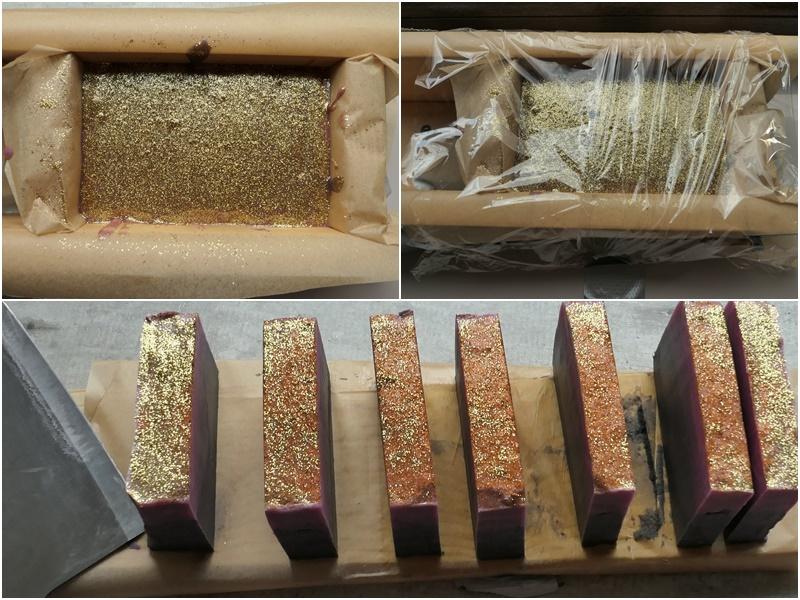 mydło ze złotym brokatem